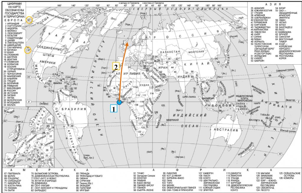 Типичное задание демоварианта ЕГЭ по географии