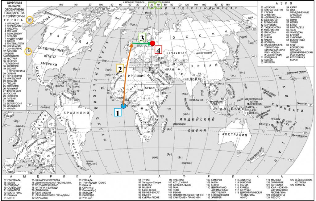Задание демоварианта ЕГЭ по географии